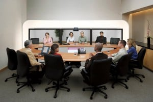 Video Conferencing Discussion Amongst Business Associates