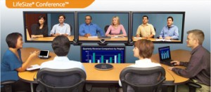 Business Conducts A Video Conferencing Session