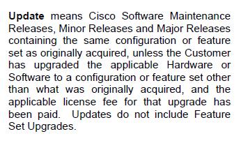 Cisco Update definition